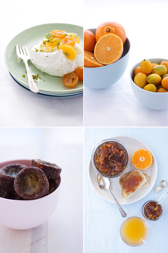 kumquats, chocolate and a pot of jam
