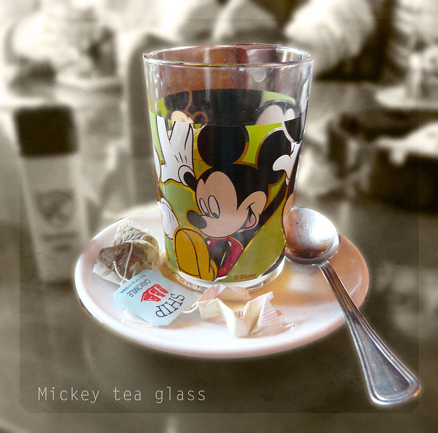 Mickey tea glass