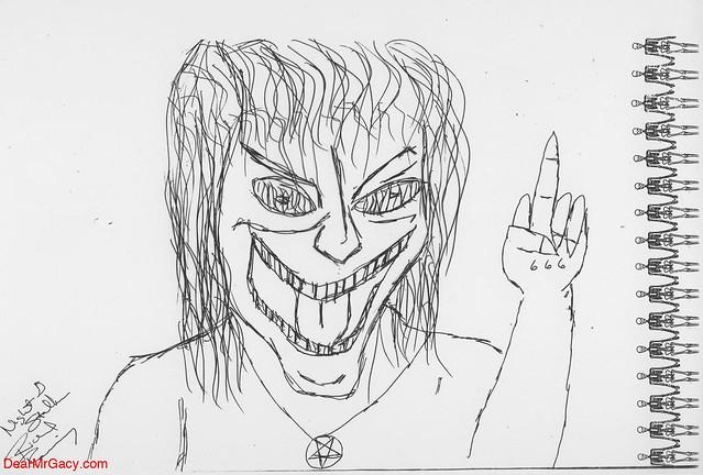 Richard Ramirez - The Night Stalker -  Drawing