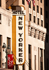 blade sign, New Yorker Hotel (1930), 481 Eighth Avenue, New York, New York by lumierefl, on Flickr