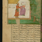 Illuminated Manuscript, Collection of poems (masnavi), A young man and an old man, Walters Art Museum Ms. W.626, fol. 267a