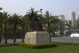 Image of Queen Victoria Statue. statue hongkong victoriapark queenvictoria
