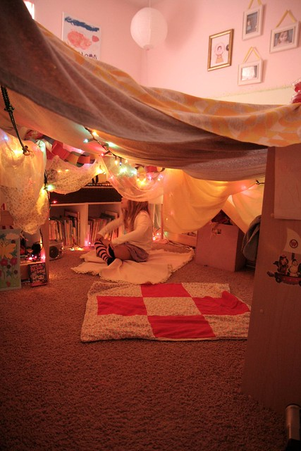 Bedroom fort flickr photo sharing for Small 2 room tent