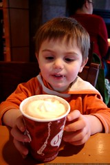 second time having hot chocolate at a coffee shop   …