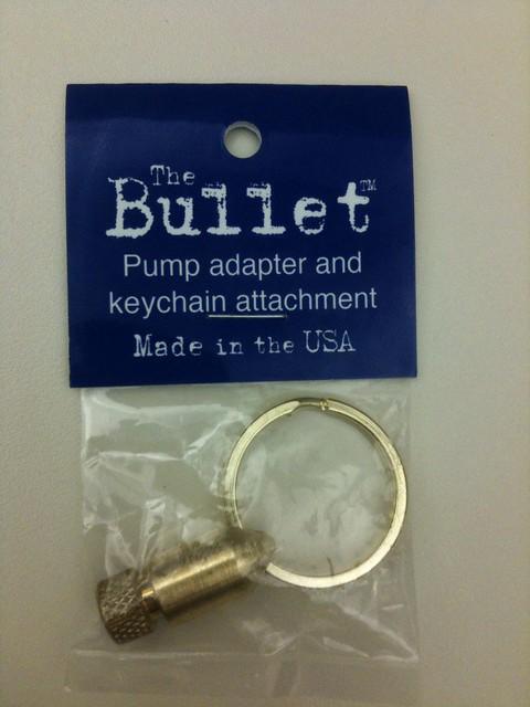 Presta Valve Adapter Bullet Key Chain Brass