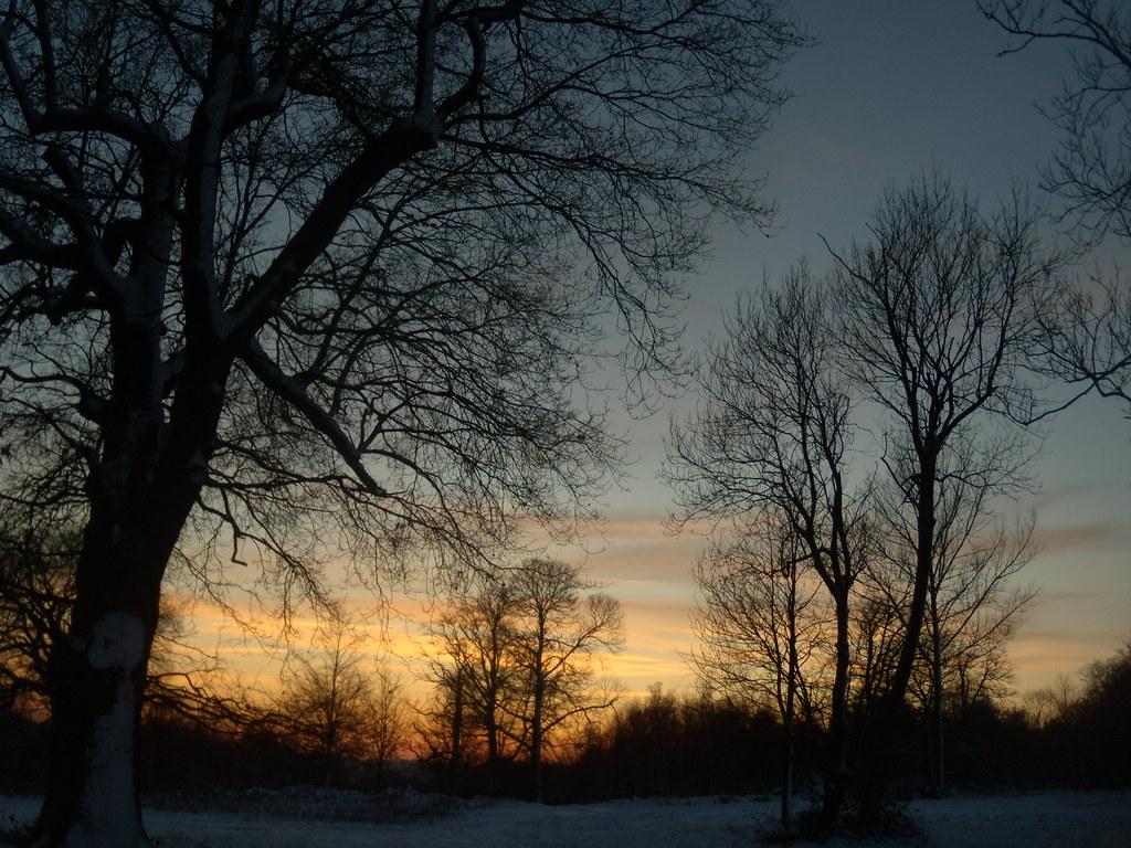 Sundown at Penshurst - looking back Hever to Leigh