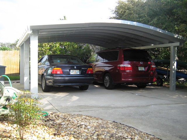 5 Car Metal Carport : Steelmaster metal two car carport flickr photo sharing