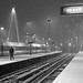 Charing Cross Station in the Snow by Edwin Bartlett