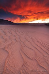 Sky on Fire over Mesquite Dunes, Death Valley National Park, California