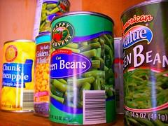 produce, food, dish, tin can,