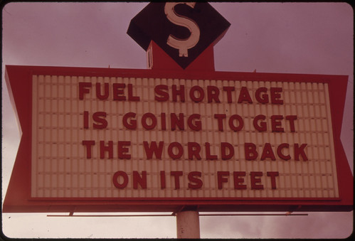The Energy Crisis in the States of Oregon and Washington Resulted in Attempts at Humor by Businesses with Darkened Signs Such as This One in Vancouver, Washington 11/1973