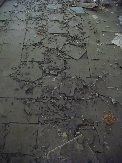 Trampled Asbestos Floor Tile Flickr Photo Sharing