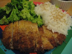 meal, tonkatsu, panko, fried food, cutlet, schnitzel, produce, food, dish, cuisine,