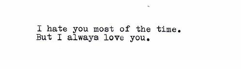 Love/Hate.