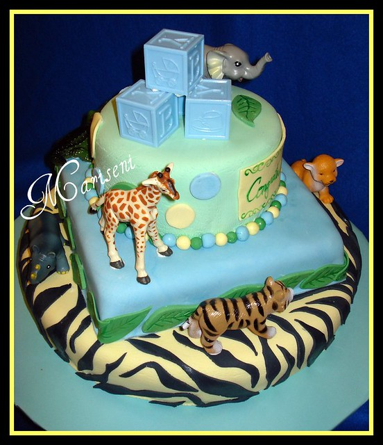 jungle themed baby shower cake flickr photo sharing
