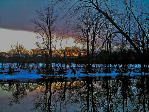 winter sunset reflection michigan midland iphone tittabawasseeriver jphansen hdnhighdynamicnoise