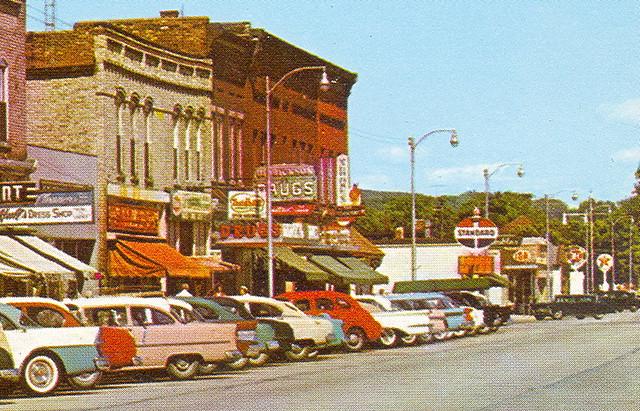 Frankfort Mi Great 1950s Downtown Main Street View