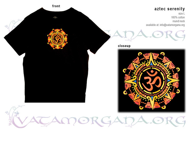 Aztec Serenity t-shirt for men by vataa