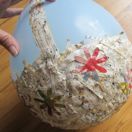 Paper mache easter basket munchkins and mayhem