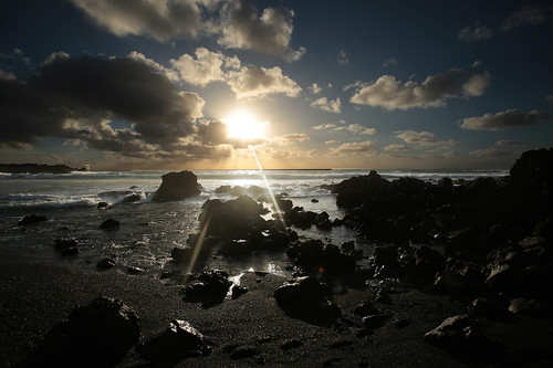 Playa Bemeja al tramonto