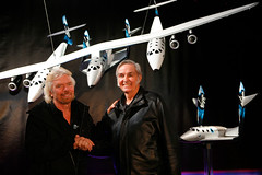Burt Rutan and Sir Richard Branson, New York, January 2008