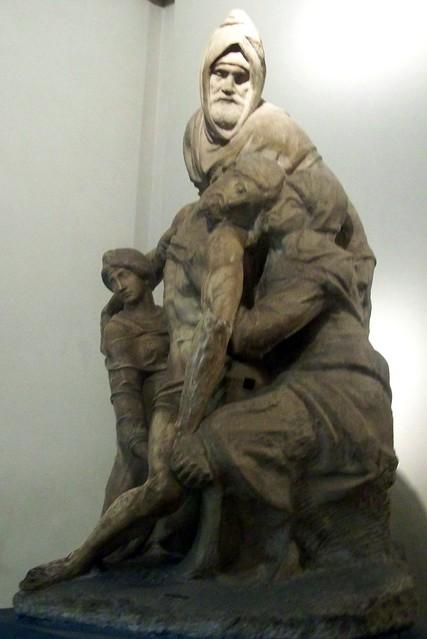 Michel-Ange Buonarroti, La Pietà aux quatre figures (détail)