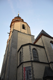 Image of St. Nicholas Church. travel november holiday church architecture germany europe religion leipzig international stnicholas 2009 protestant nikolaikirche eastgermany 2000s vxla