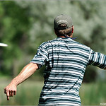 Tom Carrillo hits a huge upshot on hole #8 for a birdie at 2005 High Plains Challenge, Fort Morgan, Colorado.