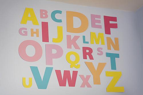 DIY alphabet