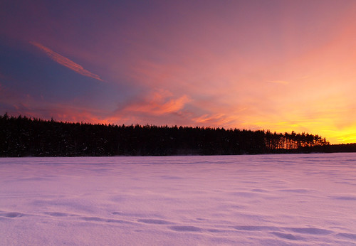 winter sunset sky lake snow ice clouds landscape evening frozen nh e30 zd1260