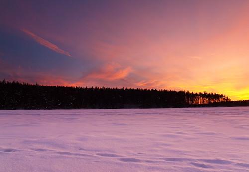 winter sunset sky lake snow ice clouds landscape evening frozen nh e30 zd1260