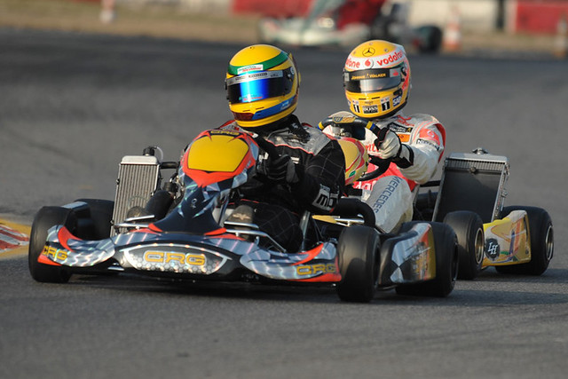 Ten years after, Hamilton and Rosberg are back on karts at Lonato  with Dino Chiesa and CRG