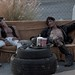 """Small photo of Sly and Tony ward """"Dead Drunks"""" in BLab"""
