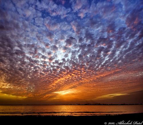 blue sunset orange sun india beach ex water beautiful dumas clouds rural landscape nikon anp angle tripod wide sigma incredible 1020 abhishek patel industries gujarat surat 10mm ongc d40 hsm hazira bhimpore