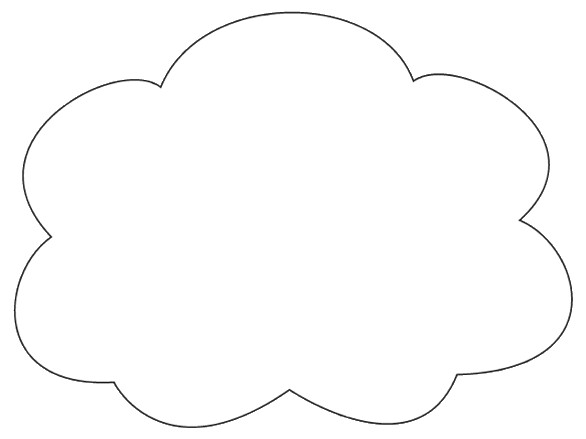 Cloud Shapes Drawing Cloud Shapes Clipart