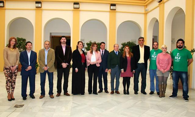 Visita de Susana Díaz al Ayuntamiento de El Viso del Alcor