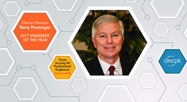 Terry Preuninger Named TSPE Dallas Chapter's 2017 Engineer of the Year