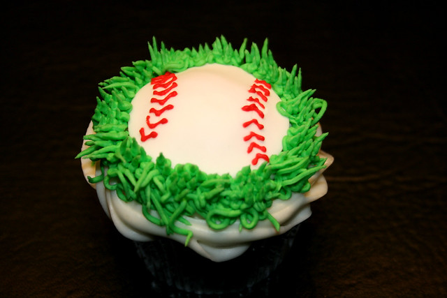 carrot cake cupcakes chicago cubs baby shower cupcakes flickr photo 2473