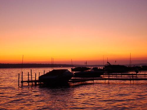 sky lake ny water boat maple dock waves dusk springs chautauqua