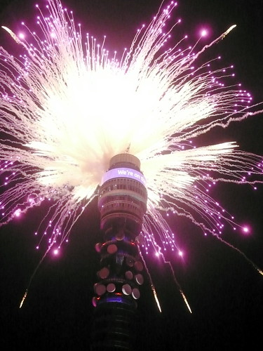 BT Tower 2012 fireworks