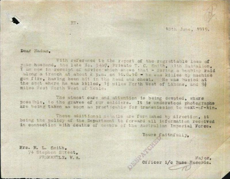 Thomas Smith death notice