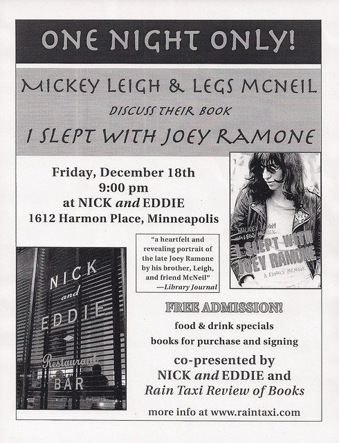 12/18/09 Mickey Leigh & Legs McNeil Book Discussion/Signing @ Minneapolis, MN