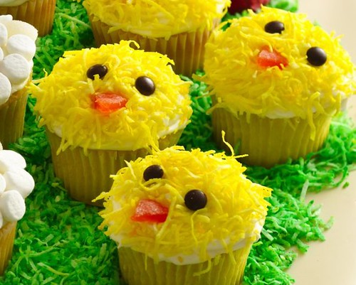 Recipe easter chicks cupcakes flickr photo sharing for Cute cupcake decorating ideas for easter