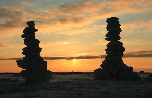 winter sunset sculpture beach anawesomeshot theunforgettablepictures vanagram