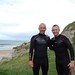 Martin Kelly with Gary Lineker at Whiterocks beach, Co Antrim