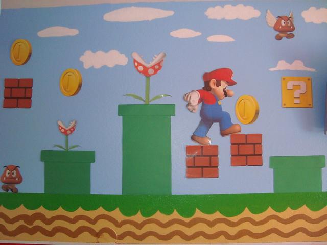 cuarto de mario bros.. parte de la pared.  Flickr - Photo ...