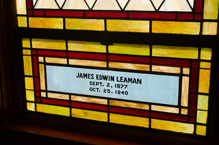 Leaman Stained Glass Window