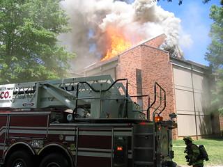 Preston Hall Fire, May 3, 2005