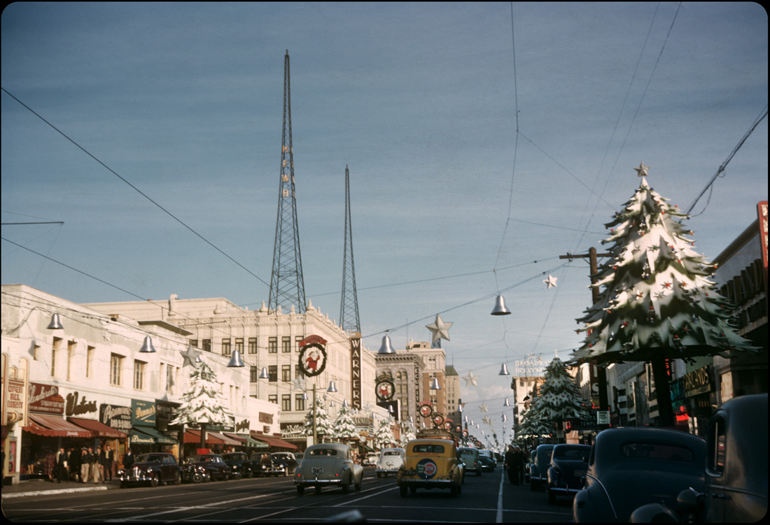 It's a Hollywood Blvd. Christmas — 1945