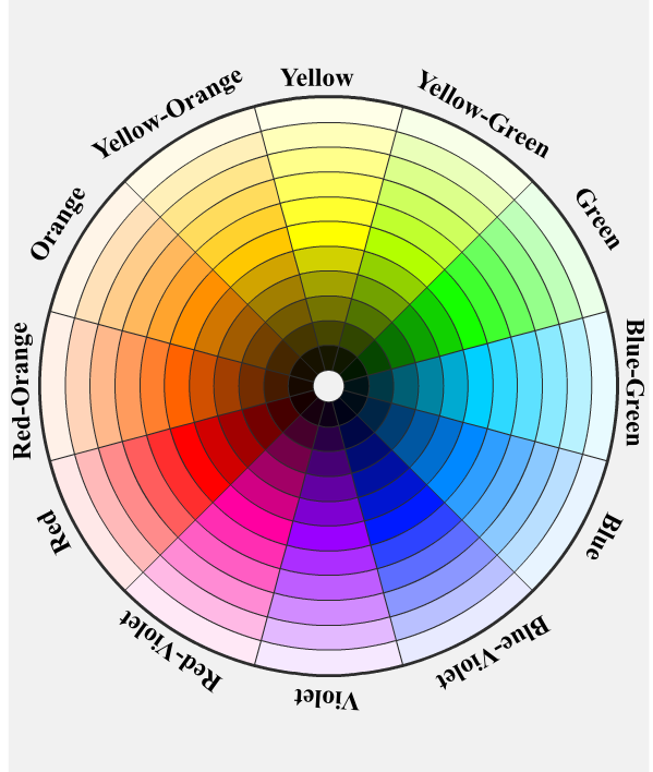 artists ryb color wheel and terms. Black Bedroom Furniture Sets. Home Design Ideas